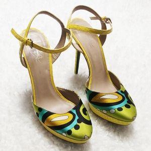 Lisa for Donald J. Pliner Satin Psychedelic Heels